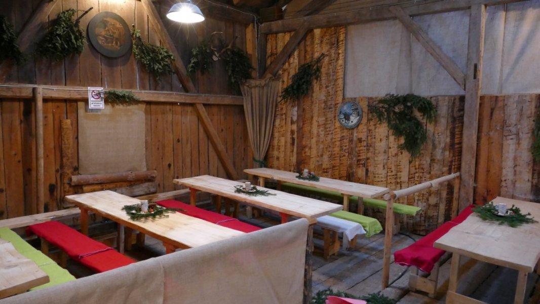 Wallgauer Adventsmarkt der Sinne 2018 an der Sonnleiten, zwei Stunden vor der Eröffneung