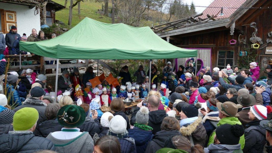 Wallgauer Adventsmarkt der Sinne 2018 an der Sonnleiten. Sonntag 02.12.2018.