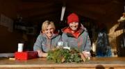 Wallgauer Adventsmarkt der Sinne 2018 an der Sonnleiten. Samstag 01.12.2018. Glühweinstand des Skiclubs