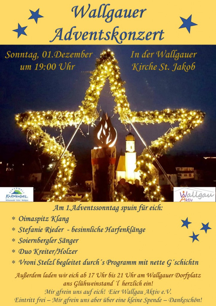 Adventskonzert am 01.12.2019 in Wallgau