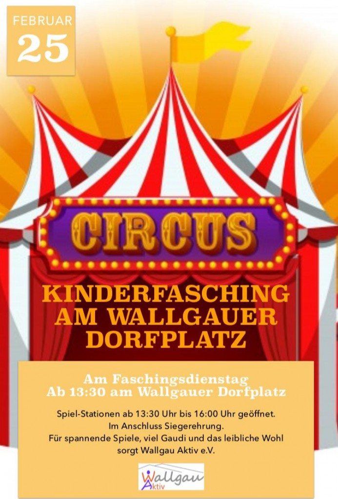Kinderfasching am 25.02.2020 in Wallgau