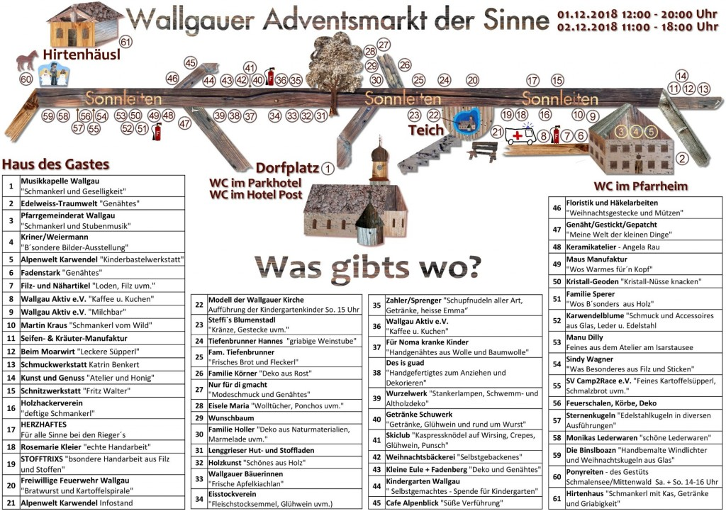 Flyer Adventsmarkt Wallgau 2018 Seite 1