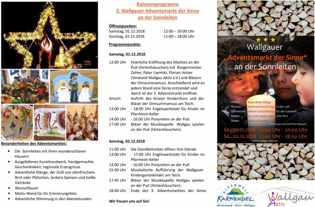 Flyer Adventsmarkt Wallgau 2018 Seite 2