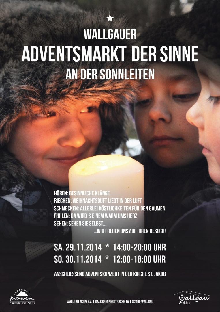 Unser Plakat für den Adventsmarkt der Sinne 2014
