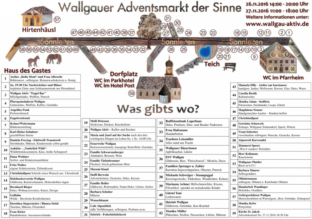 Adventsmarkt Wallgau 2016 Seite 1 Was gibts wo_