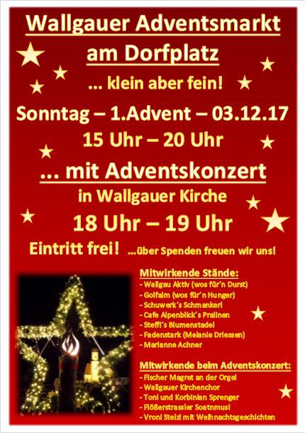 Adventsmarkt am 03.12.2017 in Wallgau am Dorfplatz